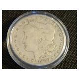 1880s Morgan silver Dollar