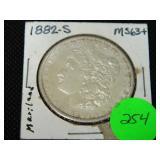 1882S Morgan silver dollar