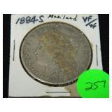 1884S Morgan silver dollar