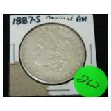 1887S Morgan silver dollar