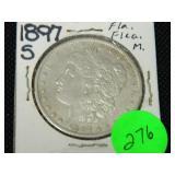 1897S Morgan silver dollar