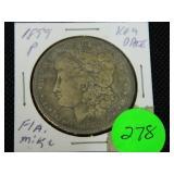 1899 Morgan silver dollar key date