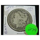 1899S Morgan silver dollar