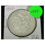 1902 Morgan silver dollar