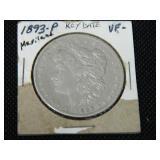 1893 Morgan silver dollar Key