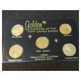 1999 gold  Denver mint quarter set