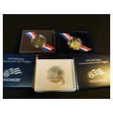 Lot of three commemorative half dollars