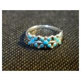 Vintage sterling and turquoise native American