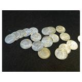 Lot of 20 40% silver Kennedy halves