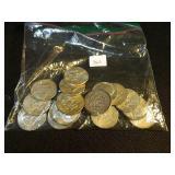 Lot of 20 40% silver half dollars
