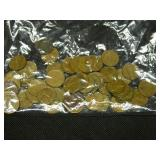 Lot of 50 Wheat Cents