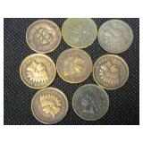 Lot of 8 Indian Head Cents