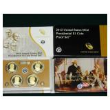 Lot  4 $1 President Coin Proof Sets 2007,12,13,14