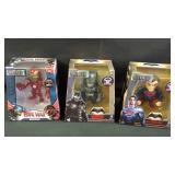 3 metals diecast superhero figures