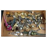 Large lot of miscellaneous watch parts