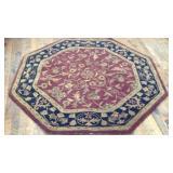 5 foot Old octagon rug