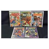A lot of five miscellaneous marvel comics