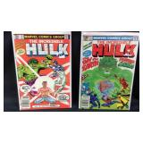 One of two marvel Incredible Hulk comic books