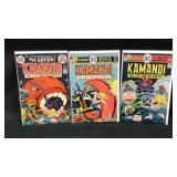 Lot of three vintage Kamandi comic books