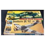 Two model airplane kits