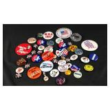 Lots of miscellaneous vintage pins and buttons