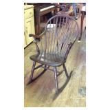 Antique Windsor rocking chair