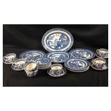 27 piece Wedgewood blue Willow China Set
