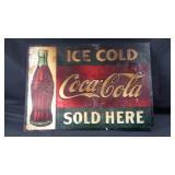 Vintage 27 1/2 x 19 1/2 Coca-Cola metal sign
