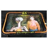 Vintage 1982 ET metal dinner tray