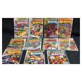11 vintage Captain Marvel comic books