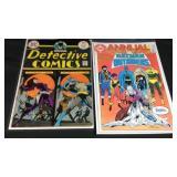 Two vintage Batman comic books