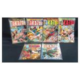 6 Vintage marvel Ka-Zar comic books