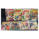 8 Vintage The avengers comic books