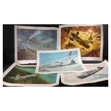 5 World war two series Bomber prints