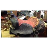 Full size Horse saddle complete worn