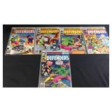 Five marvel comics the defenders
