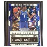 Zion Williamson contenders shimmer card
