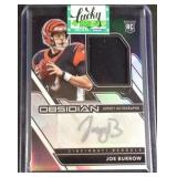 Joe burrow obsidian rookie jersey autograph 3/100