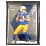 Justin Herbert mosaic rookie card