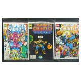 The infinity gauntlet Marvel comic books 4,5,6