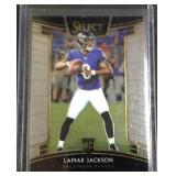 Lamar Jackson select rookie card