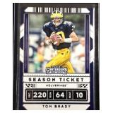 Tom Brady contenders football card
