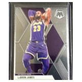 LeBron James mosaic basketball card
