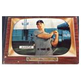 Mickey Mantle number 202 color TV baseball card