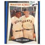 Master and mentor Willie Mays, bill Rigney card