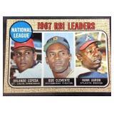 1967 RBI leaders trading card