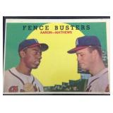 Fence busters Aaron, Matthews trading card