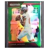 Lamar Jackson green PRIZM 4/5