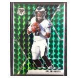 Jalen hurts green mosaic rookie card