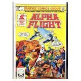Marvel comics alpha flight number one comic book
